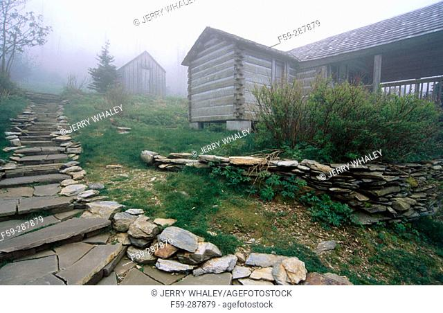 Le Conte Lodge. Mount Le Conte. Great Smoky Mountains National Park. Tennessee. USA