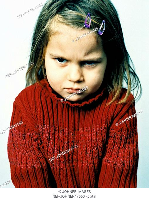 Portrait of sulking girl