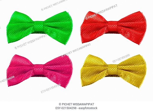 set of bow tie isolated on white background