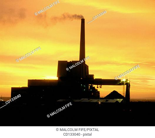Coal-fired power station. Fife. Scotland