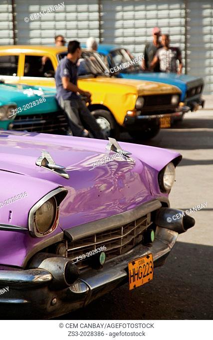 Antique cars, Havana, Cuba, Central America