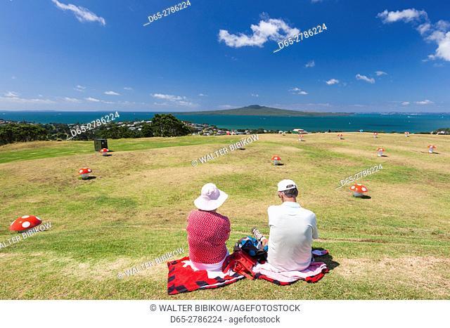 New Zealand, North Island, Auckland, Devnonport, atop Mt. Victoria