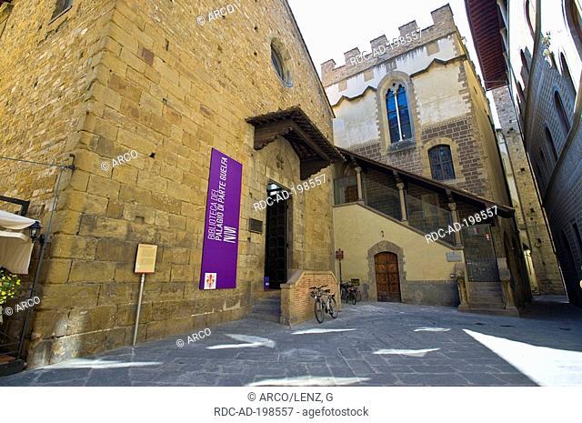 Library, Biblioteca del Parte Guelfa, Palazzo dei Capitani di Parte Guelfa, Florence, Toscana, Italy, Firenze