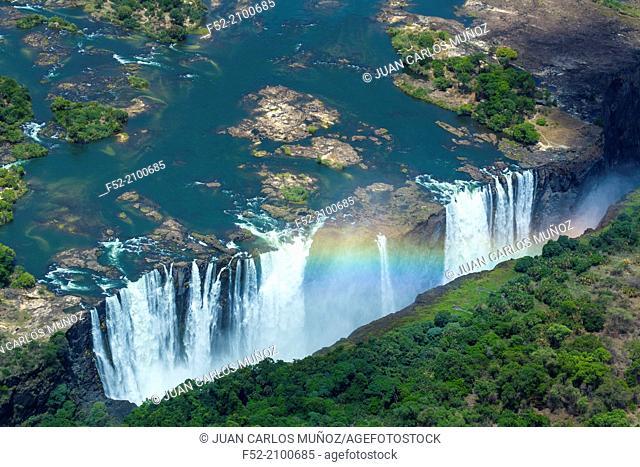 Zambezi river, Victoria Falls or Mosi-Oa-Tunya, Zambia and Zimbabwe, Africa