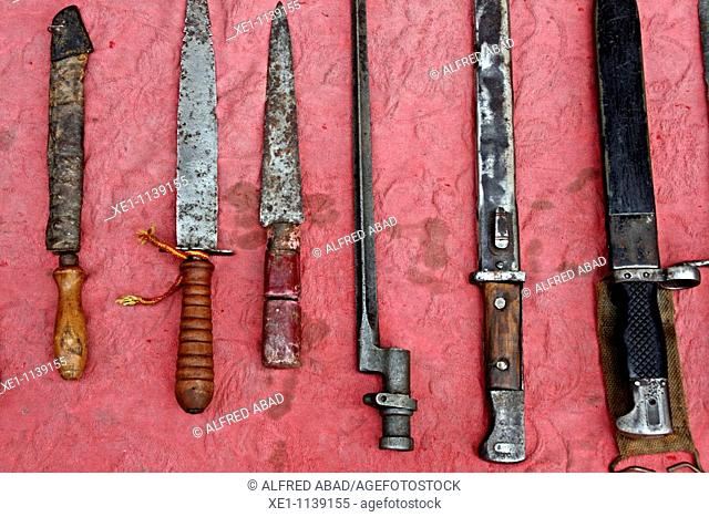 antiques, knives