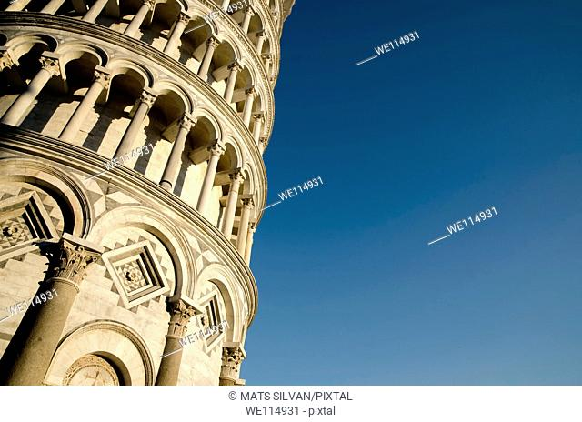 Leaning pisa tower in tuscany Italy