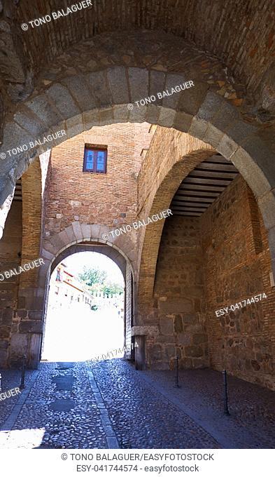Puerta del Cambron door in Toledo of Spain