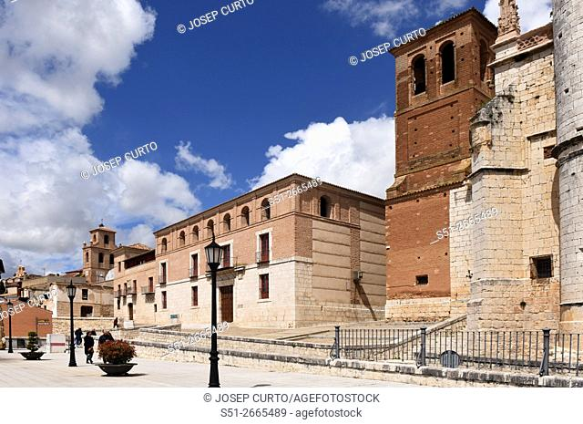 Church of San Antolin and the Houses of the Treaty in Tordesillas, Valladolid province, Castilla y Leon, Spain