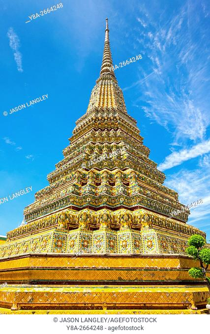 Stupa at Wat Pho (Temple of the Reclining Buddha), Bangkok, Thailand