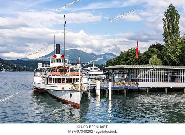 Tour on the lake, Lucerne, Lake Lucerne, Canton Lucerne, Switzerland