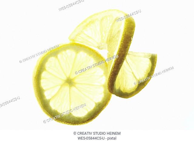Lemon slices, close-up