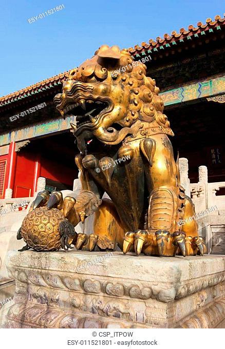 Three Great Halls Palace. Forbidden City. Beijing. China