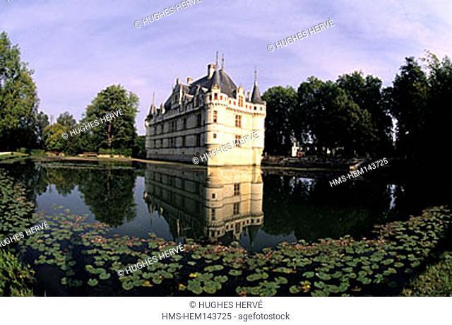 France, Indre-et-Loire (37), Azay-le-Rideau castle