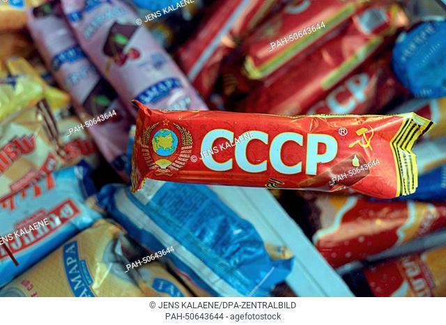 "An Armenian ice cream named """"CCCP"""" in Yerevan, Armenia, 27June 2014. Photo:JensKalaene/dpa - NO WIRE SERVICE | usage worldwide. - Yerevan/Armenia"