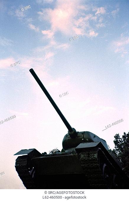 Russian T-34 Tank, Hortobágy, Hungary