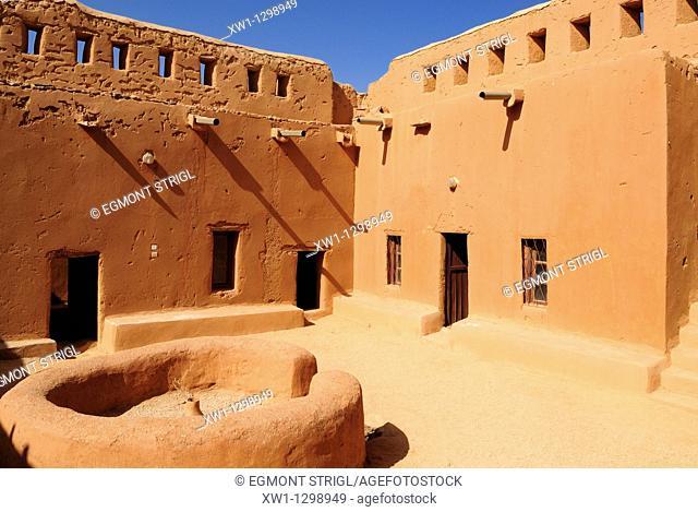 historic french adobe fort at Tamanrasset, Algeria, Sahara, Africa