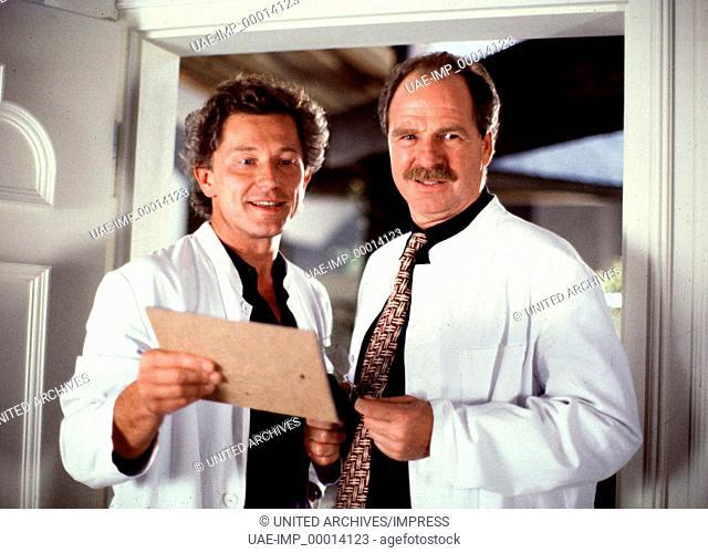 DR. SCHWARZ UND DR. MARTIN: Herztöne, D 1995, Regie: Bernd Fischerauer, MIRO NEMEC, FRIEDRICH VON THUN, Stichwort: Kittel, Arzt