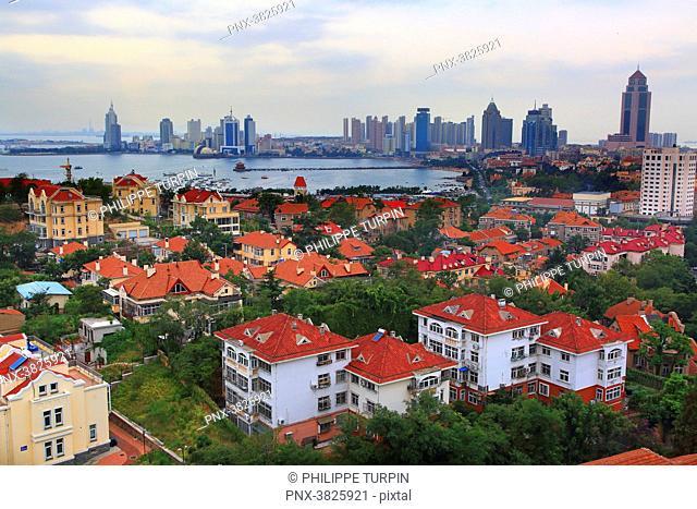 Asia, China, Shandong Province, Qingdao. Qingdao Bay