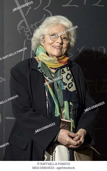 The italian actress Raffaella Panichi at the photocall of the film Tonno Spiaggiato, directed by Matteo Martinez with Frank Matano at the Cinema Anteo