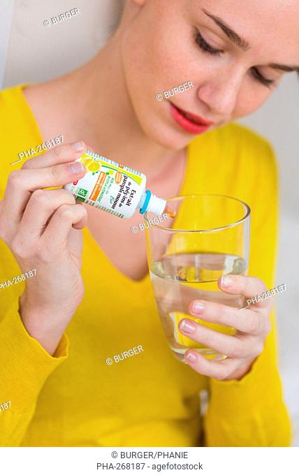 Woman using extract of grapefruit seed