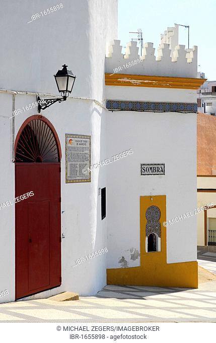 Bullring Plaza de Toros de Ayamonte, Costa de la Luz, Huelva region, Andalusia, Spain, Europe