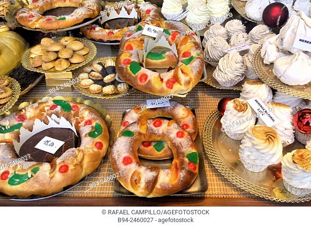 A king cake sometimes shown as kingcake, kings' cake, king's cake, or three kings cake is a type of cake associated in a number of countries with the festival...