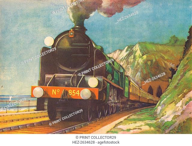 'The Golden Arrow, S.R., leaving Shakespeare's Cliff, Dover', 1940. Artist: Unknown