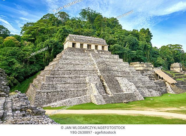 Temple of Inscriptions or Templo de Inscripciones, Ancient Maya Ruins, Palenque Archaeological Site, Palenque, Mexico, UNESCO