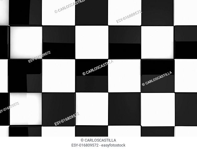 Shiny chess background detail in black and white