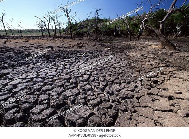 Dry dam, Gonarezhou National Park, Zimbabwe