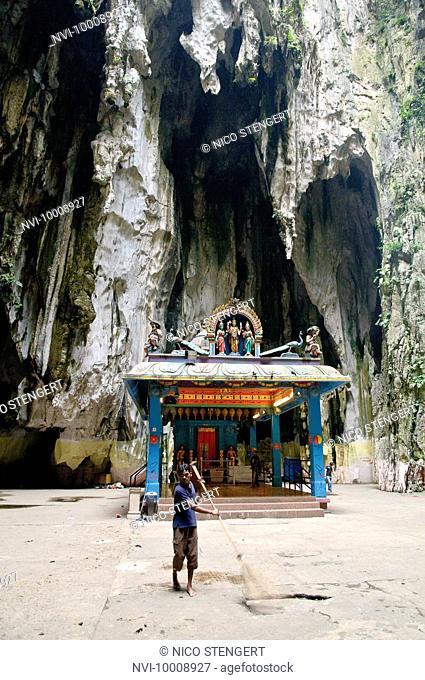 Hindu temple in the Batu Caves, limestone caves near Kuala Lumpur, Malaysia, Southeast Asia, Asia