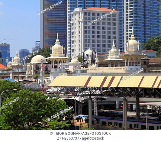 Malaysia, Kuala Lumpur, Old Railway Station, heritage architecture,