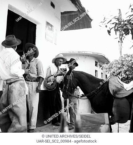 Auf dem Viehmarkt, Kolumbien 1960er Jahre. On the cattle market, Colombia 1960s
