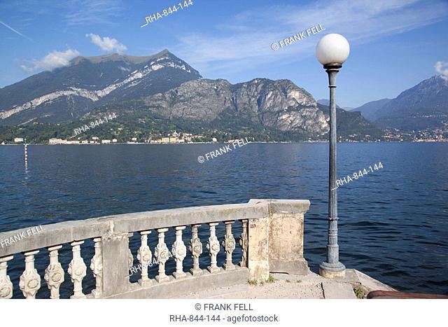 View of lake looking towards Cadenabbia, Bellagio, Lake Como, Lombardy, Italian Lakes, Italy, Europe