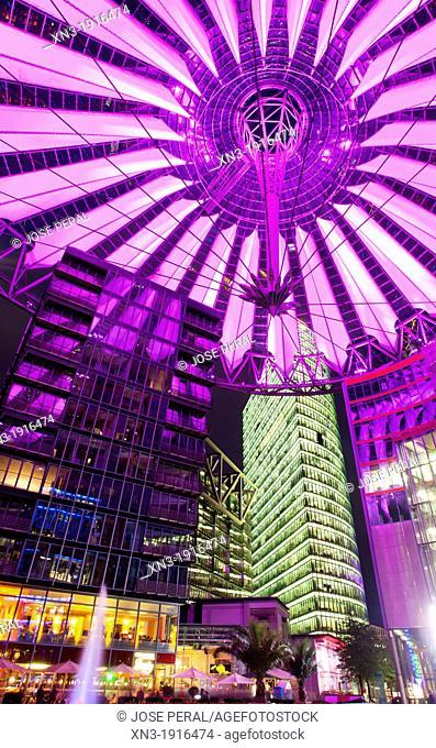 Sony Center, Potsdamer Platz, Berlin, Germany, Europe