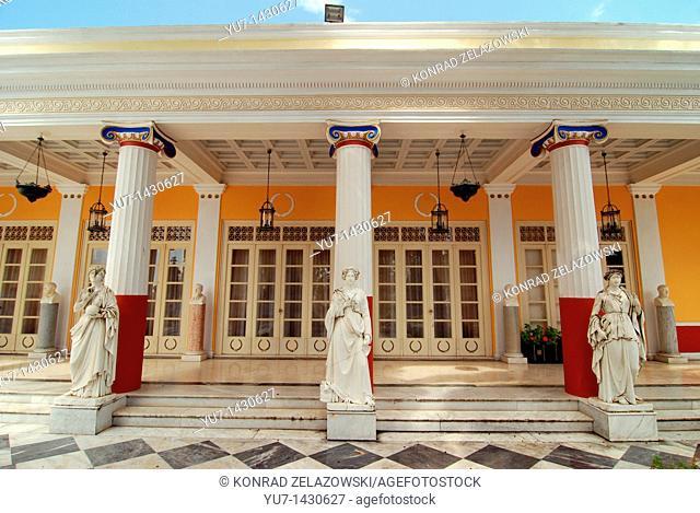 Empress Elisabeth Amalie Eugenie also known as Sissi or Sisi Palace called Achilleon in Gastouri on greek island of Corfu
