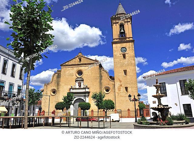 Church of San Miguel Arcangel, XVIIIth century. Jabugo, Huelva, Spain