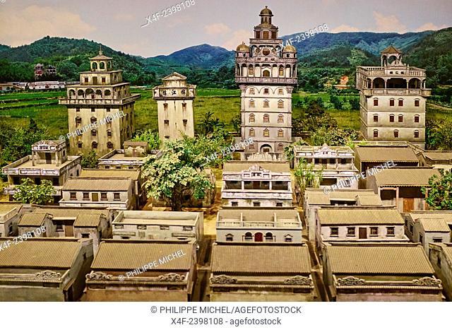 China, Guangdong province, Guangzhou or Canton, Zhujiang new city, new Guangdong museum, architecture Kaiping