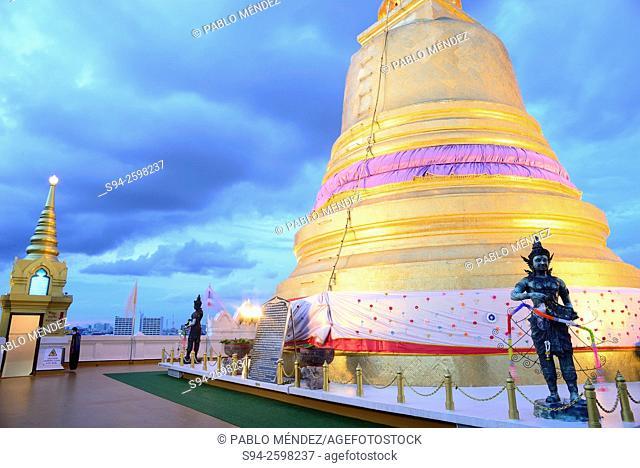 Golden Stupa in Golden Mountain of Bangkok, Thailand