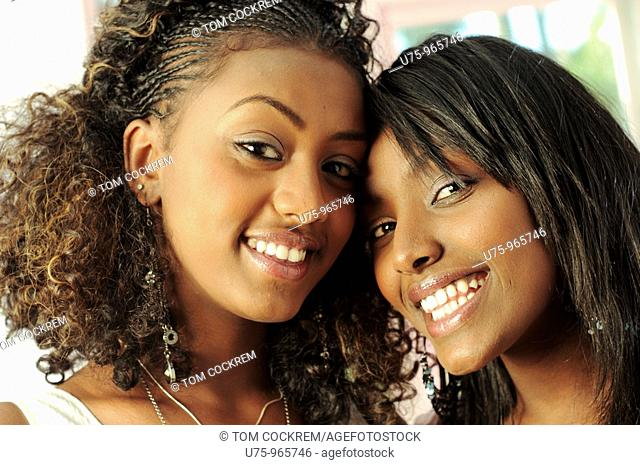 young black African women