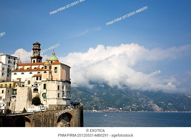 Buildings in a town on a hill, Ravello, Salerno Province, Campania, Italy
