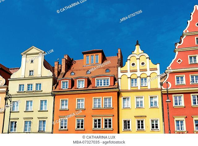Wroclaw, old town, salt ring, Plac Solny, patrician houses