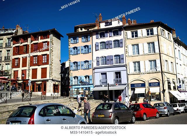 Martouret Square in Puy en Velay  Auvergne region, France