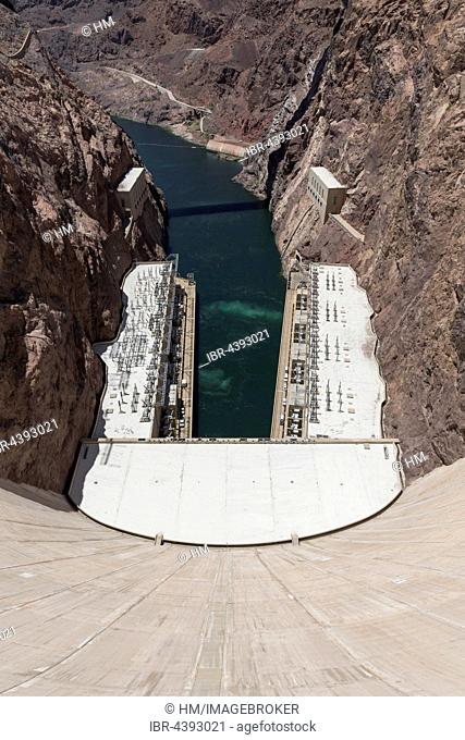 Hoover Dam, Lake Mead Recreation Area, Arizona, Nevada, USA