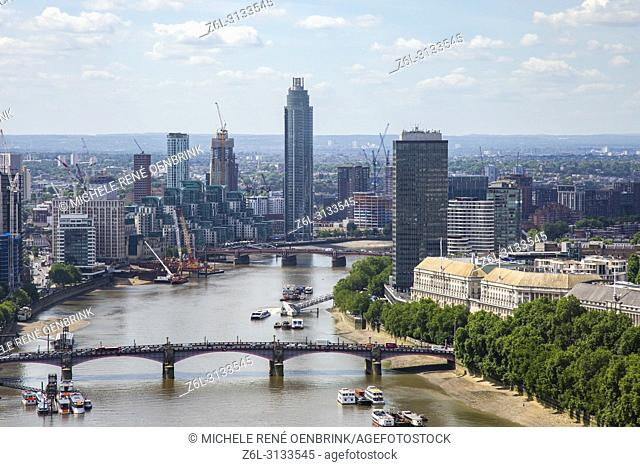 Aerial View of London England from the London Eye