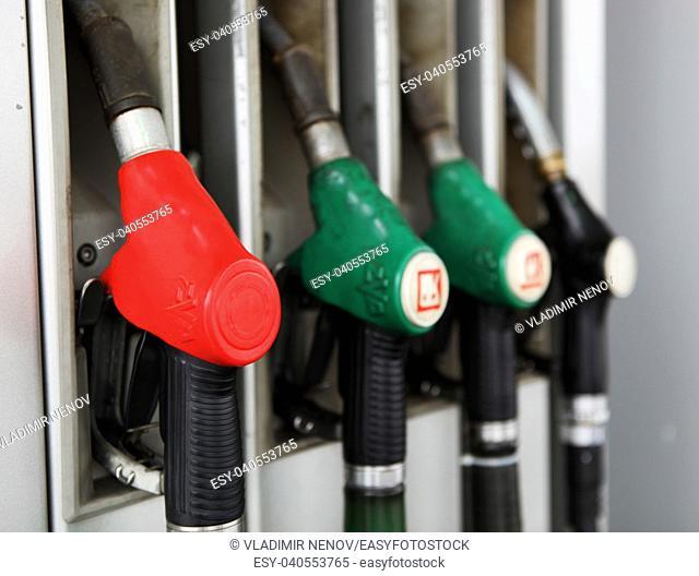 BURGAS, BULGARIA - January 21, 2012: Gas fuel station