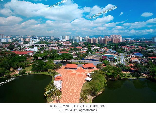 View overlooking the town, Kuala Lumpur, Malaysia
