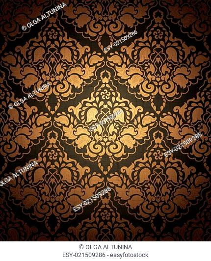 Seamless floral ornamental pattern