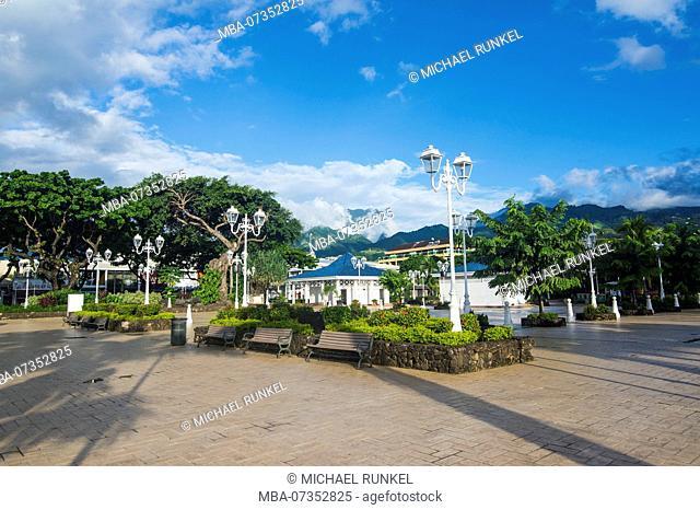 Town square of Papeete, Tahiti, French Polynesia