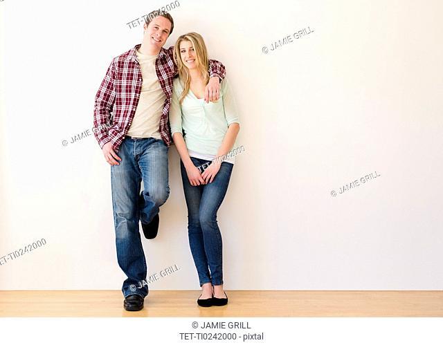 Portrait of embracing couple